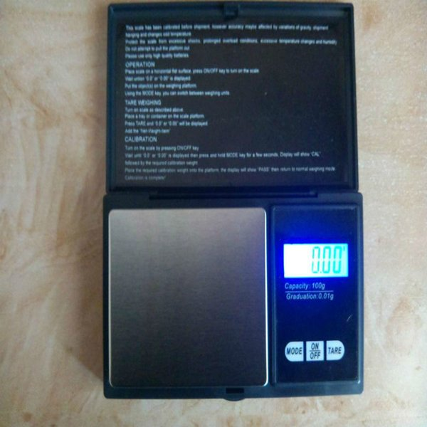 100g * 0.01g Mini Portable LCD Electronic Digital Pocket Scale Jewelry Diamond Balance Weight Gram Weight Scales Precise Scale