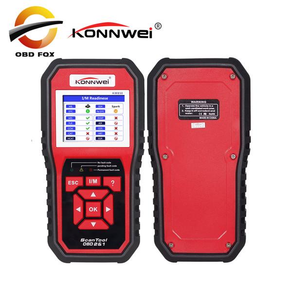 2018 Best OBD 2 Autoscanner OBD2 Scanner KONNWEI KW850 Full ODB2 Scanner Supports Multi-languages kw 680 code reader scanner
