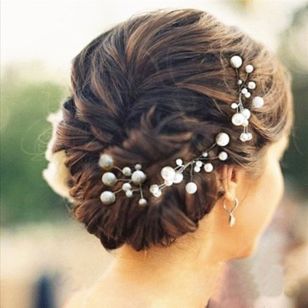 best selling 6 Pieces Women Wedding Hair Accessories Bridal Bridesmaid Hair Accessories Pearl Headpiece Hair Pin Jewelry Accessories Hot