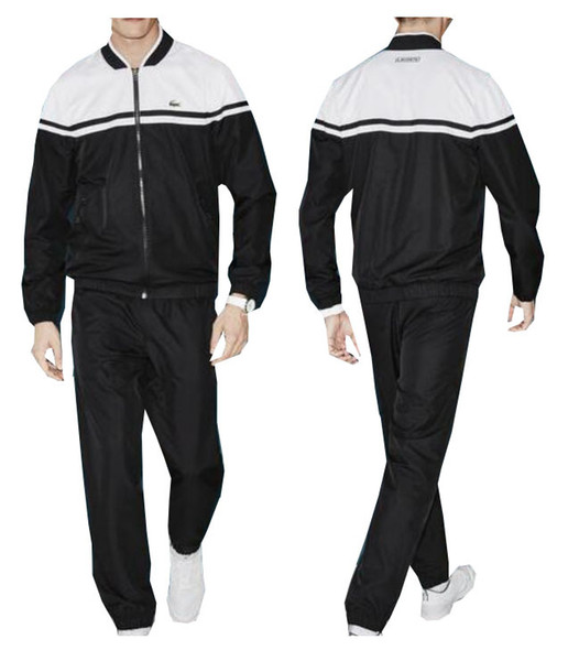 differently latest fashion the best attitude Autumn men's full zip polo tracksuit men sport suit white cheap ...