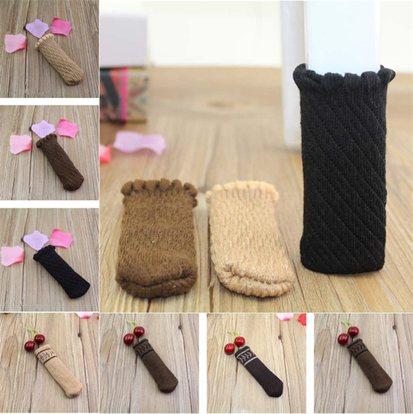 high quality Chair Foot Cover Knitted Furniture Table Legs Sleeve Non Slip Floor Knitting chair socks T5I086