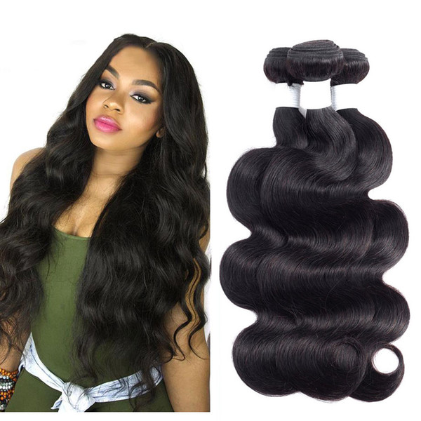 8A Brazilian Body Wave Virgin Hair 4 Bundles Unprocessed Malaysian Peruvian Indian Human Hair Weave Bundles Natural Color Hair Extensions