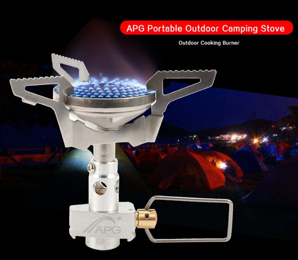 2300w Outdoor Gas Stove mini Portable Stainless Steel split Gas cooking Burner Camping Equipment Hiking Picnic Igniter Survival Furnace