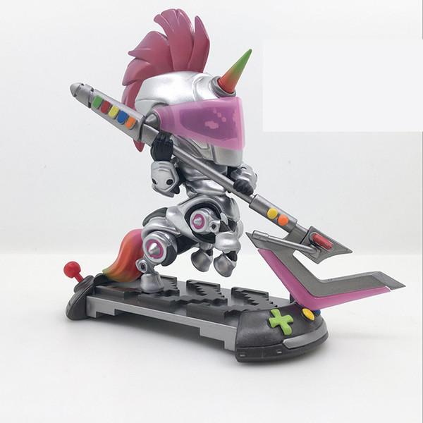 LOL League Of Legends Action Figure 002# Battle Soul Q Version Of The Video Game Horse Model Figure Decoration