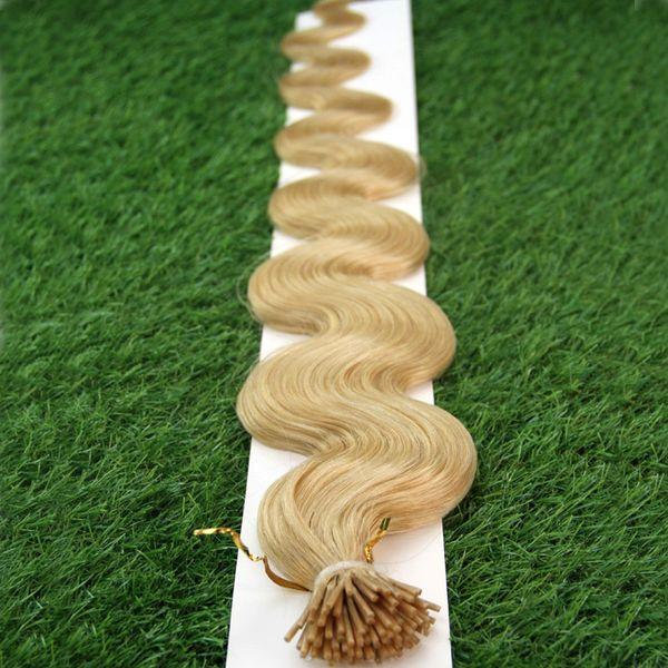 "Brazilian Body Wave hair Human Pre Bonded Fusion Hair 100g I Tip Stick Keratin Double Drawn Remy Hair Extension 14"" 16"" 18"" 20"" 22"" 24"" 26"""