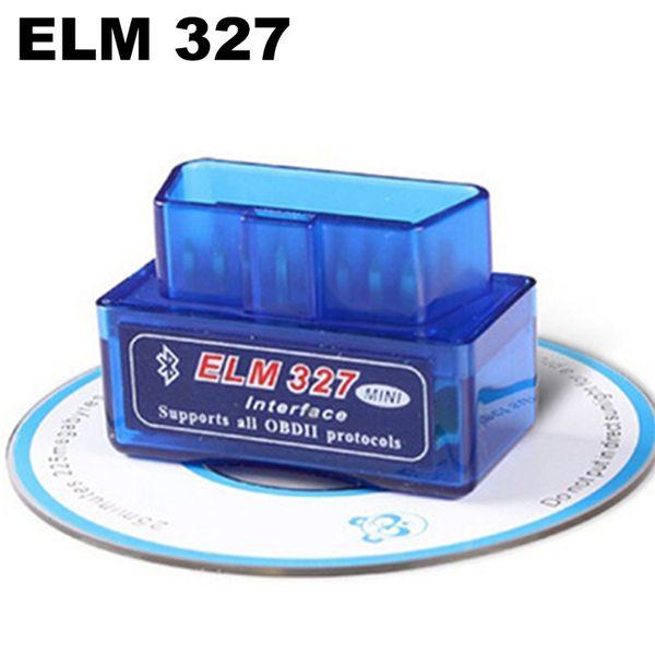 Araba Automotivo Escaner Için Teşhis Tarayıcı Automotriz Mini V2.1 ELM327 OBD2 ELM 327 Sürücü Ile Bluetooth Arabirim Oto Araba Tarayıcı Disk