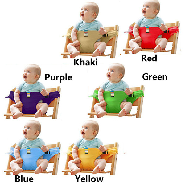best selling Portable Baby Seat Harness Chair Seat Cover Newborn Feeding Belt High Chair Security Sets 10 PCS