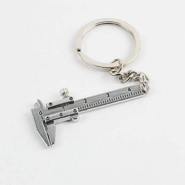 Mobile Vernier Étrier Règle Modèle Porte-clés En Métal Porte-clés Pendentif D'anniversaire De Mariage Faveur Et Cadeau QW8171