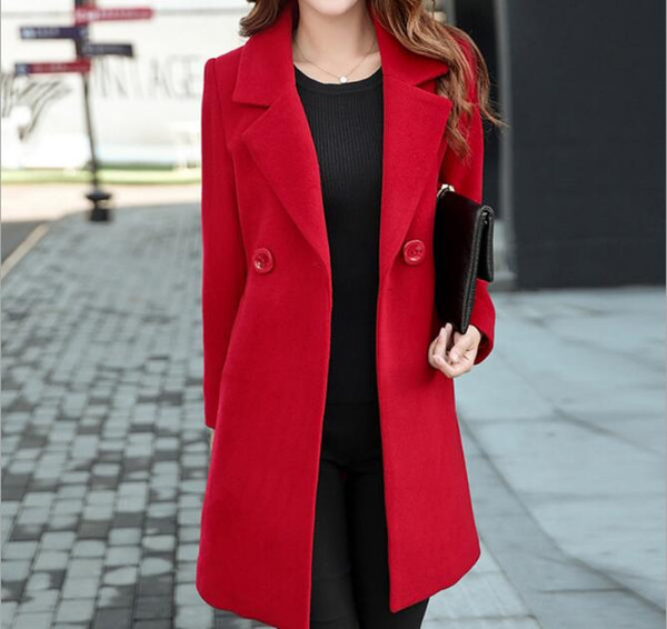 Plus Size 4XL Spring red Long Jacket Female Coats Blazer Feminino Long Sleeve One Button Women Small Suit Jackets Office Blazers