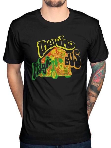 Кто магия автобус футболка ретро английский рок-группа 1960-х годов музыка Merch Tom новый футболка мужская мода футболки топ tee