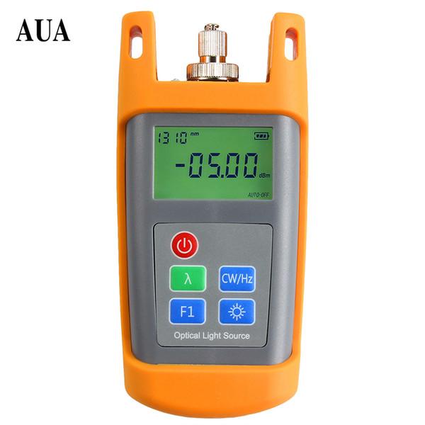 Fuente de luz láser óptica de fibra de mano AUA-1315 dos equipos de fibra óptica de longitud de onda 1310 / 1550nm