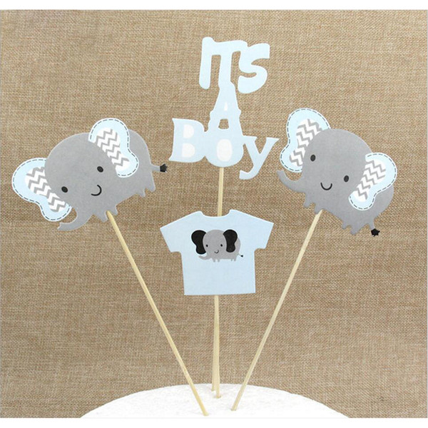 "Happy Birthday ""My Boy"" Letter Elephant Cake Decor Toppers Birthday Baby Shower Cake Decorations Event & Party Supplies"