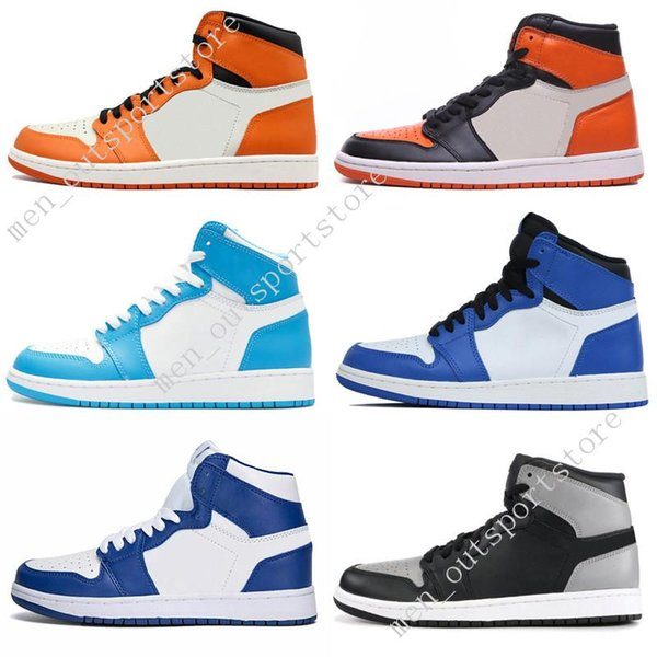 1s Mid OG 1 top 3 chaussures de basketball Homage To Home Banned Bred Toe Noir Blanc Chicago Royal Bleu UNC Barons baskets de sport pour hommes