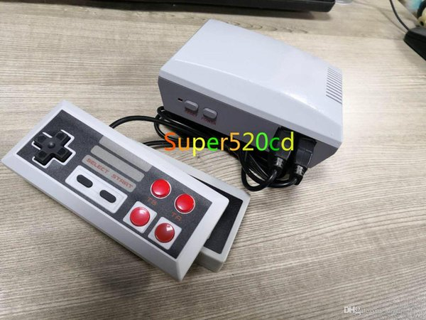 5PCS Mini consoles de jeu HDMI HD 600 un NES européen et américain classique 620 500 modèles rouge et blanc