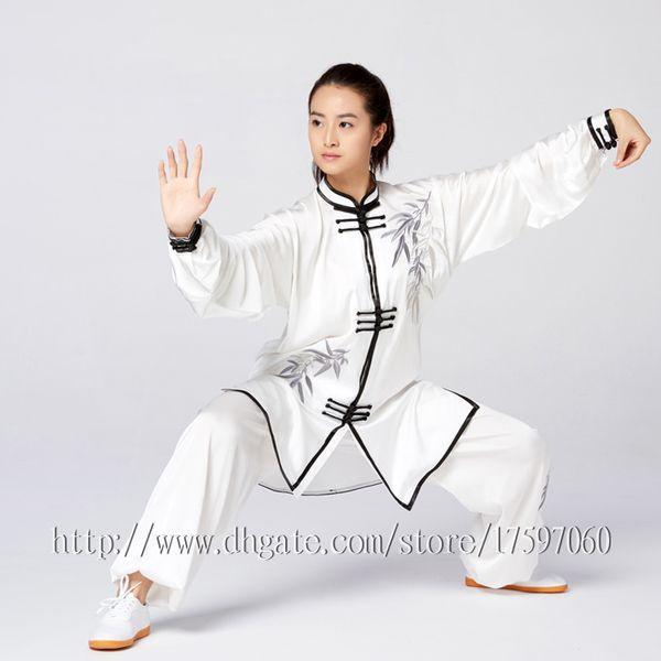 f4fae9ad78641 Chinês Tai chi roupas uniforme Kungfu Taijiquan espada vestuário Qigong  outfit bordado quimono para mulheres homens