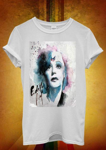 Edith Piaf Cantante francesa Música Novedad Hombres Mujeres Camiseta Unisex Camiseta sin mangas Chaleco 38 Camiseta Estilo de verano Moda Hombres Camisetas camiseta