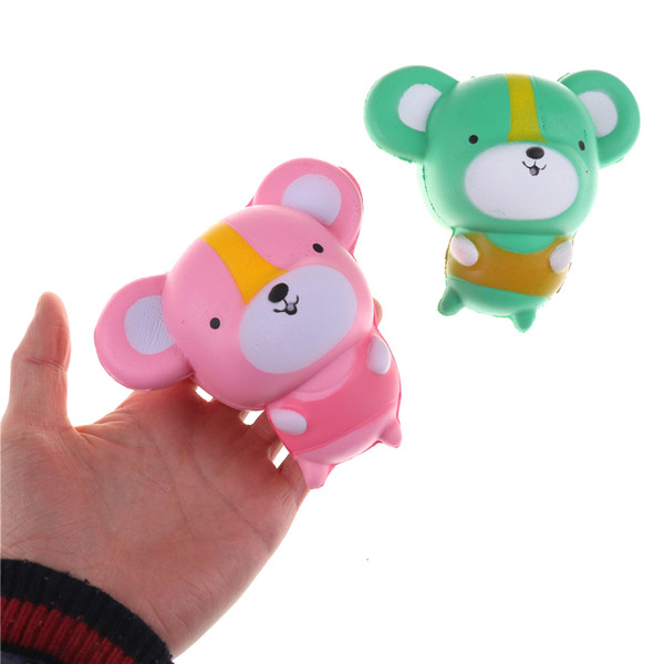 Bab Toys Kawaii Cartoon Mouse Baby Doll Squishy Slow Rising Jumbo Hamster Phone Straps Pendant Charm Scented Bread Cake Kid Toy Gift