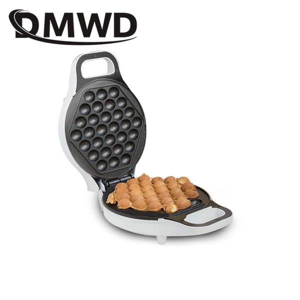DMWD MINI portable Hong Kong electric eggs bubble waffle Maker QQ egg Aberdeen omelet machine eggettes puff cake pan EU US plug