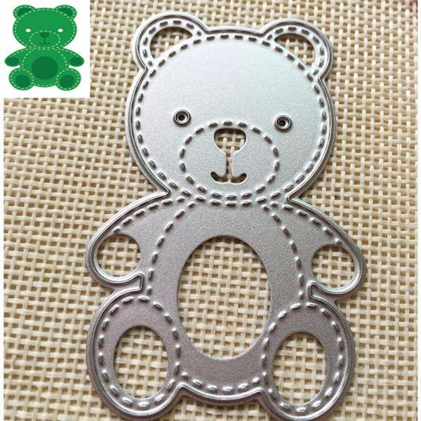 1pc Bear Shape Cutting Dies Stencil Scrapbook Album Embossing Paper Card Craft Decoration Dies Metal