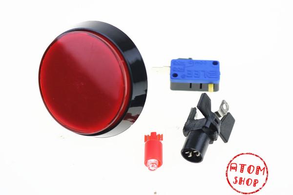 DC12V 60MM rote LED-Licht-Lampe große Runde Arcade-Videospiel-Spieler-Druckknopf-Schalter 1PCS