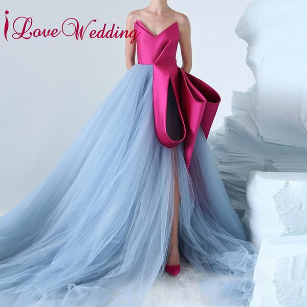 Мода Новый стиль 2018 V шеи без рукавов Уникальный стиль на заказ линия красочные свадебные платья 2018