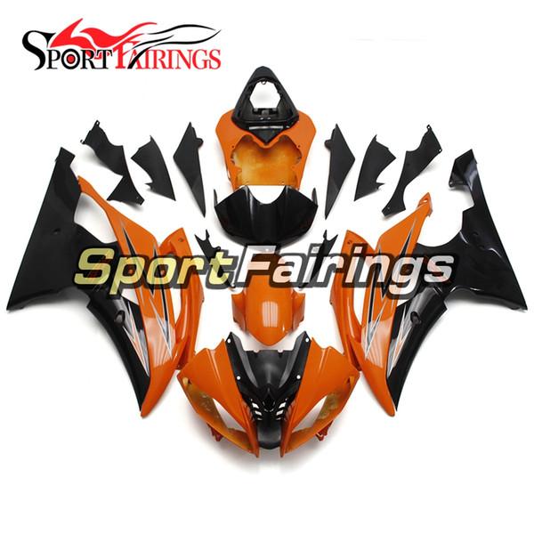 Оранжевый черный полный мотоциклов обтекатель комплект для Yamaha YZF600 R6 YZF-R6 2008 - 2016 09 12 13 14 15 корпус мотоцикла ABS впрыски пластичный