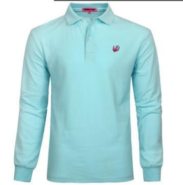 2018 Brand lapel Collar Polo Shirt Men Long Sleeve Casual Men Shirts Slim Fit Polo Homme Cotton Mens Long sleeve Polos