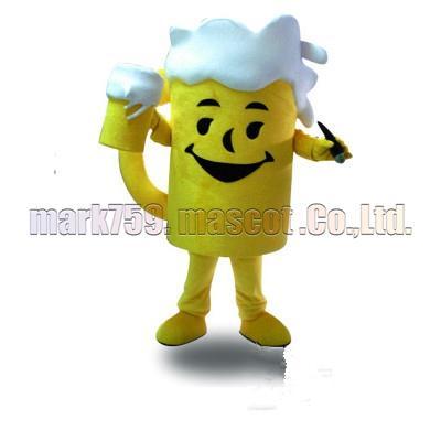 Il formato adulto libero di trasporto della mascotte della tazza della birra, il partito di carnevale del giocattolo della peluche della mascotte della tazza della birra celebra le vendite della fabbrica della mascotte.