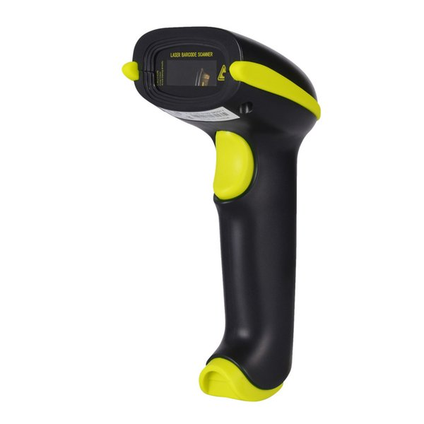 Wireless Handheld 433M 1D Barcode Scanner Automatic Reader Supports Reverse Type Bar Code Scanning with USB Receiver for Retail