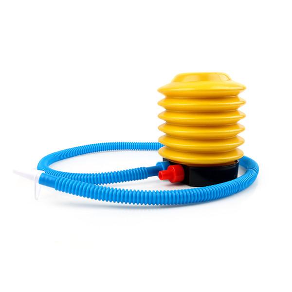 Globo de la aptitud portable que nada el juguete inflable Bola de la yoga Bomba de aire del pie Accesorios del inflador Herramienta del gimnasio de Crossfit Deshincha la bomba