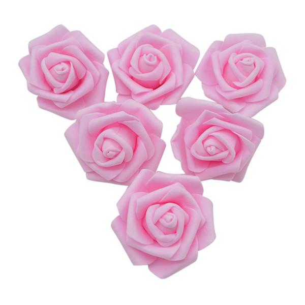 6cm 20pcs Pretty PE Foam Rose Artificial Head for Wedding Bouquet Wreaths Flower Ball Gift Box DIY Home Decoration
