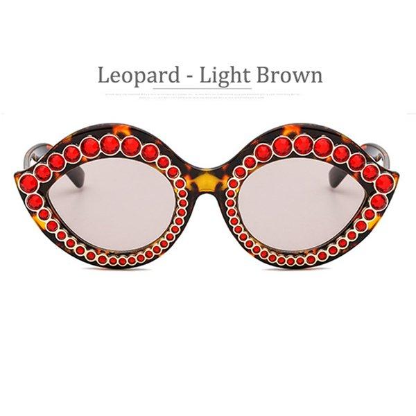 Obiettivo marrone lucido Frame Leopard