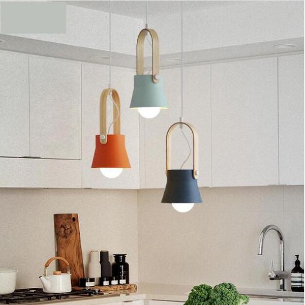 SVITZ Modern Individuality Suspension Luminaire Creative Clothing Store Modern Simple Bedroom Bedside Lamp Wooden Pendant Light