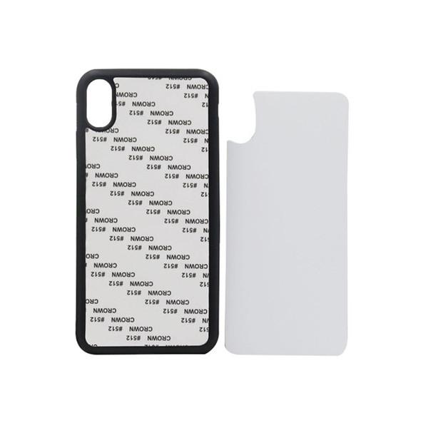 60 pcs En Gros 2D Blank Impression de Téléphone Mobile Shell pour iPhone XS XR XS MAX Doux TPU Dur PC Cas de Téléphone portable