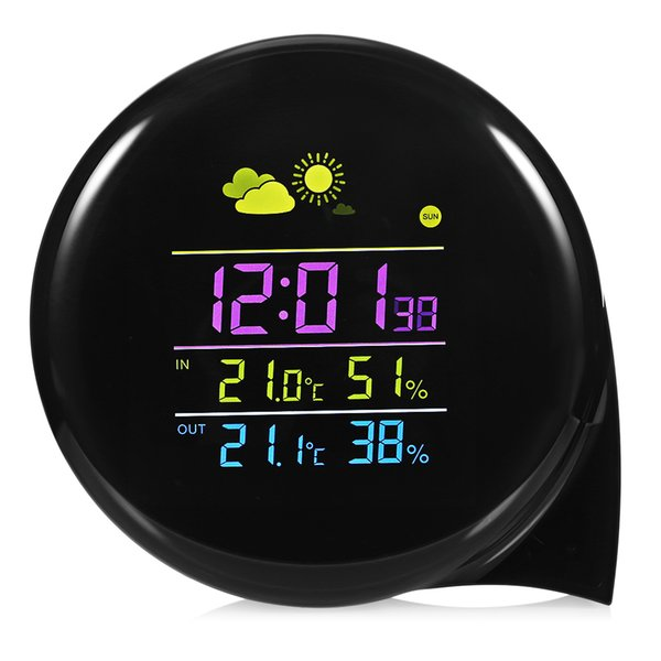 Wireless Outdoor Comma Weather Forecast Station Temperature Humidity Monitor Alarm with Remote Sensor Forecast Sensor Clock