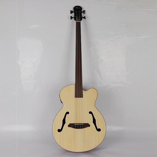 Fretless jazz acústico guitarra baixo profissional com EQ frete grátis