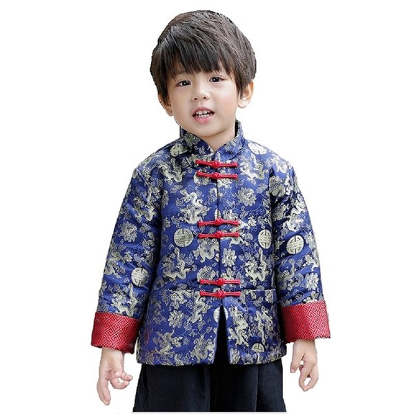 Chinese Spring Festival Children Coat Boys Clothes Dragon Party Costumes Baby Boys Jackets Kids Outfits Outerwear China Dress Garment