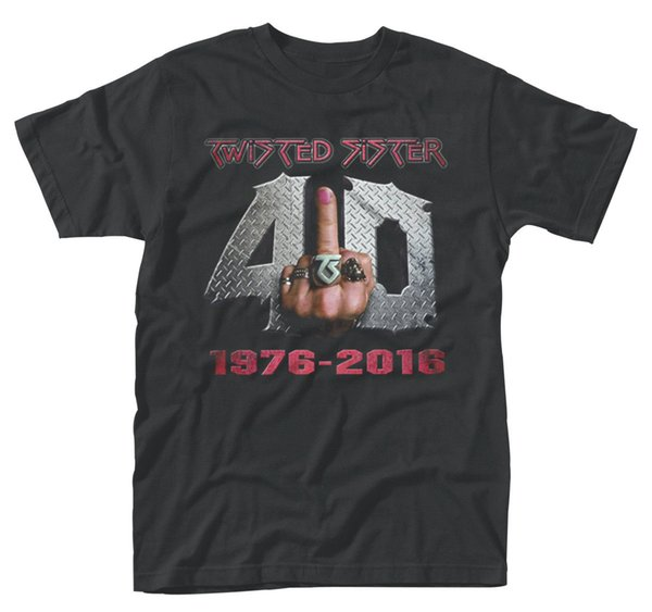 Twisted Sister '40 ve Fu k It 'T-Shirt - YENİ RESMİ