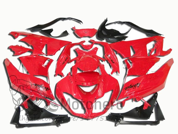 Carene ad innesto 3Gifts + per KAWASAKI NINJA ZX6R 2009 2010 2011 2012 ZX 6R 636 09 10 11 12 ZX-6R 09-12 carene rosse # 667-4T