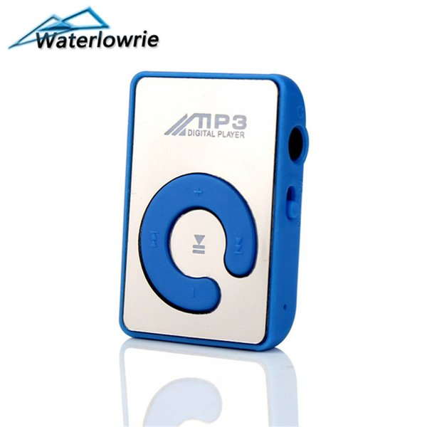 Waterlowrie Mini Clip MP3 Player Sport mp3-player Music mp 3 walkman Support 8G Micro SD TF Card For running Exercise Fitness