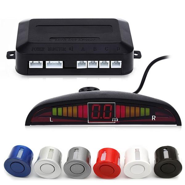 best selling HLEST 1 Set Car Led Parking Sensor 5 Colors Parktronic Display 4 Sensors Reverse Assistance Radar Monitor Parking System