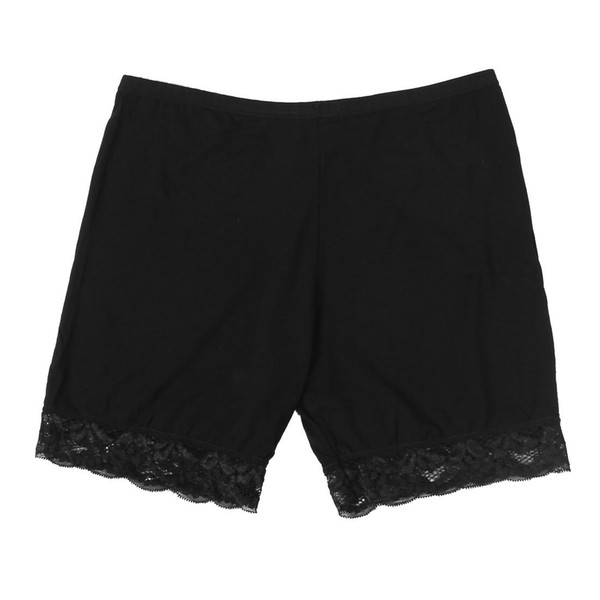 Women Lace Brim Elastic Waist Safety Panties Boyshort Boxers