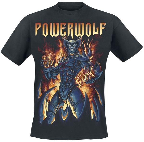 Powerwolf Robowolf T-Shirt black Short Sleeve Plus Size t-shirt colour jurney Print t shirt jurney Print t-shirt