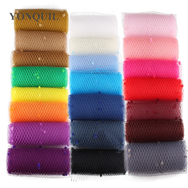 Multiple colors mix dot birdcage veils 25CM Width make bridal DIY Hair accessories wedding veils hat material adorn netting party fascinator