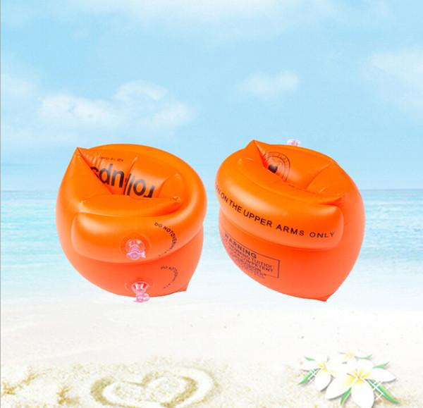 Braccio anello da nuoto ispessito adulto gonfiabile tondo giallo manica galleggiante anello adulto da nuoto anello doppio palloncino di sicurezza anello braccio da nuoto