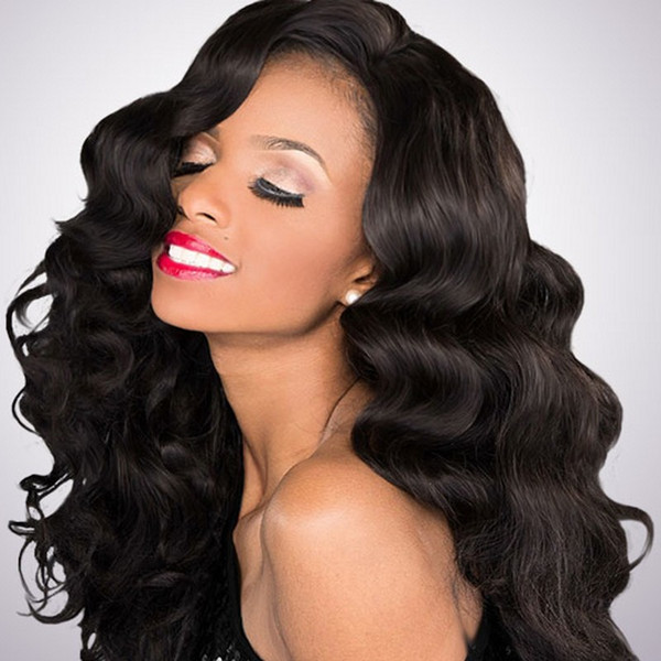 Indian Virgin Human Hair Full Lace Wigs For Black Women Body Wave Lace Front Hair Wigs With Natural Hairline