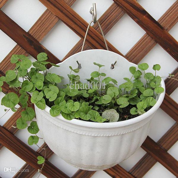 Venta al por mayor macetas de flores colgantes de pared, de alta calidad resina plástica colgando macetas de la cesta, maceta de plantas al aire libre, maceta colgante pots056