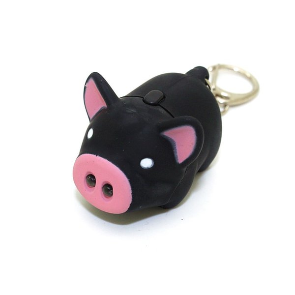 Cute Mini Pig Pendant with Light and Sound Key Chain Cute Pig Style LED Light Sound Key Chain Keyring Car Bag Pendant Decoration Gift