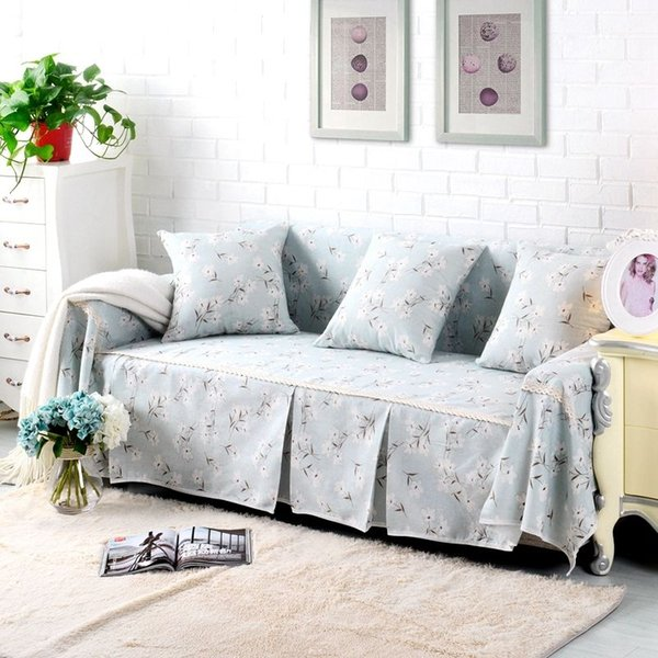 Floral Cotton Linen Slipcover Sofa Cover Oukr Protector For 1 2 3 4 Seater  Dyff Dining Chairs Slipcovers Small Chair Slipcovers From Supreme1982, ...