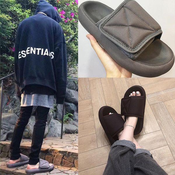 Hook&Loop Men Slippers Sandalias Hombre Gladiator Sandals Flats Platform Men Beach Slide Fashion Brand Soft Men Shoes